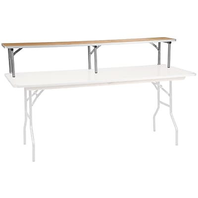 Flash Furniture 72'' x 12'' x 12'' Bar Top Riser, Birchwood with Silver Legs (XA72RS)