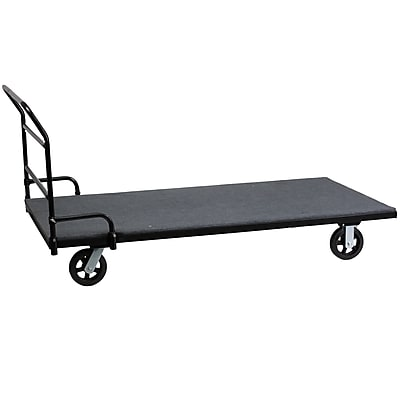 Flash Furniture Folding Table Dolly with Carpeted Platform for Rectangular Tables (XA7736DOLLY)