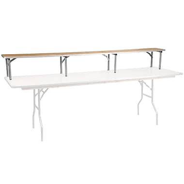 Flash Furniture 96'' x 12'' x 12'' Birchwood Bar Top Riser with Silver Legs (XA96RS)