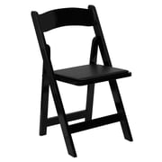 Flash Furniture  Hercules Series Wood Folding Chair with Vinyl Padded Seat, Black, XF2902BLACK
