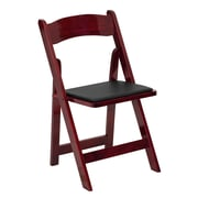 Flash Furniture  Hercules Series Wood Folding Chair, Mahogany, Vinyl Padded Seat (XF2903MAHWOOD)