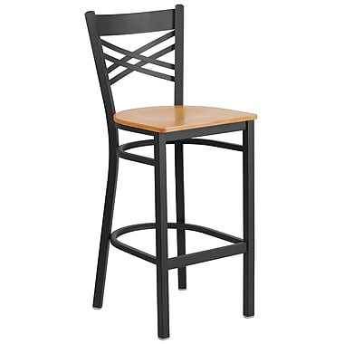 Flash Furniture 30'' High Backless Metal Indoor-Outdoor Barstool with Round Seat, Green Powder Coat Finish, (CH3135030GN)