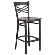 Flash Furniture Hercules Series 29'' Black ''X'' Back Metal Restaurant Barstool (XU6FOBXBARWAW)