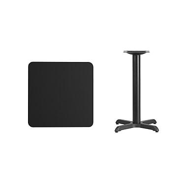 Flash Furniture – Table carrée en stratifié noir de 24 po avec base de 22 x 22 po (XUBK2424T2222)