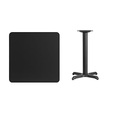 Flash Furniture – Table carrée en stratifié noir de 30 po avec base de 22 x 22 po (XUBK3030T2222)
