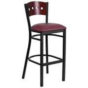 "Flash Furniture Hercules 32"" Black Decorative 4 Square Back Metal Barstool (XUDG515MAHBBGV)"
