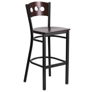 "Flash Furniture Hercules 29.75"" Black Decorative 3 Circle Back Metal Restaurant Barstool (XUDG516WAB)"