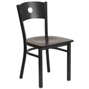 Flash Furniture Hercules Series Black Circle Back Metal Restaurant Chair (XUDG6019CIRWALW)