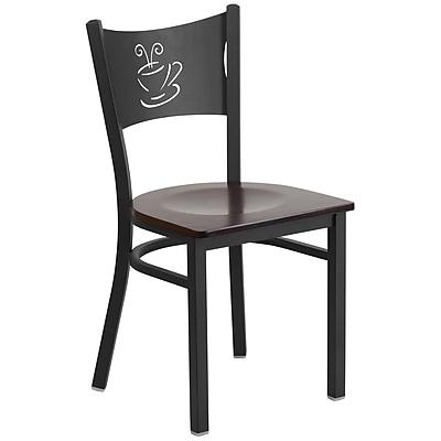 Flash Furniture Hercules Series Black Coffee Back Metal Restaurant Chair (XUDG6099COFWALW)