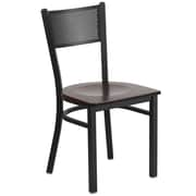 Flash Furniture Hercules Series Black Grid Back Metal Restaurant Chair (XUDG615GRDWALW)