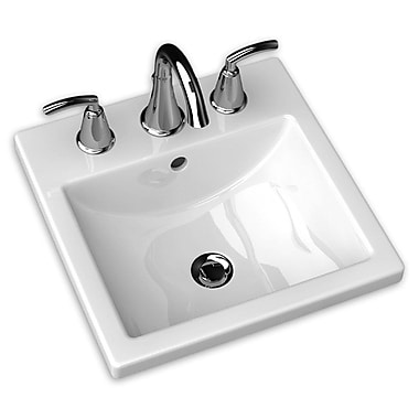 American Standard Studio Carre Self Rimming Bathroom Sink 8''; 8'' Centers