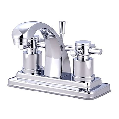 Kingston Brass Concord Double Handle Centerset Bathroom Faucet w/ Brass Pop-Up Drain