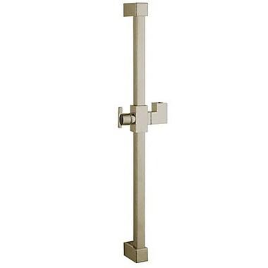 Kingston Brass Claremont 23.6'' Square Shower Slide Bar; Satin Nickel