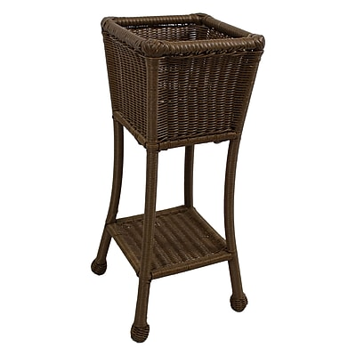 International Caravan Chelsea Novelty Plant Stand; Mocha