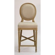 Zentique Medallion 25'' Bar Stool; Natural