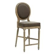 Zentique Medallion 25'' Bar Stool; Aubergine