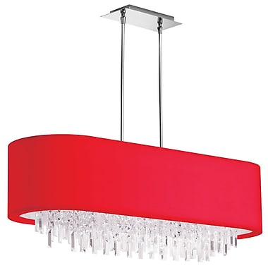 Radionic Hi Tech Jasmine 8-Light Kitchen Island Pendant; Red