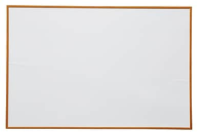 NeoPlex Wood Framed Wall Mounted Magnetic Whiteboard; 4' H x 6' W