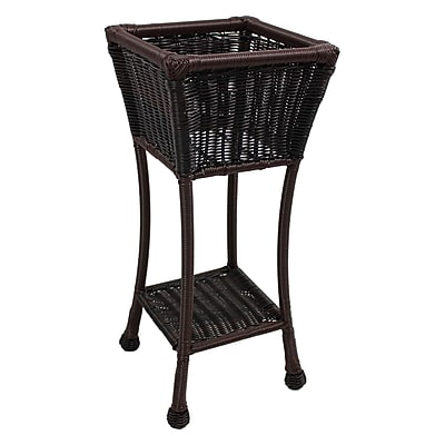 International Caravan Chelsea Novelty Plant Stand; Antique Pecan
