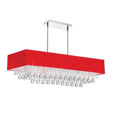 Radionic Hi Tech Jacqueline 10-Light Kitchen Island Pendant; Red