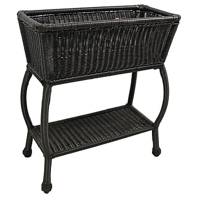 International Caravan Chelsea Novelty Plant Stand; Antique Black
