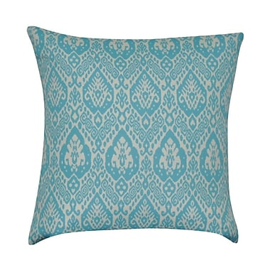 Loom and Mill Damask Decorative Throw Pillow; Teal