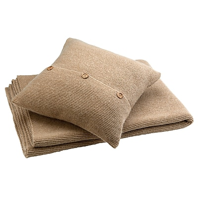 Christy Karina Throw Pillow; Dune
