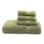 Flato Home Terry 4 Piece Towel Set; Dark Green