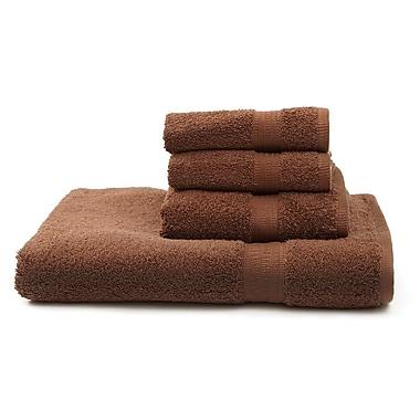 Flato Home Terry 4 Piece Towel Set; Chocolate