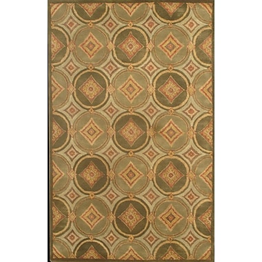 MOTI Rugs Hugo Green Rug; Rectangle 5' x 8'