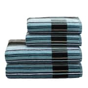 Christy Supreme Capsule Stripe Wash Cloth; Aqua