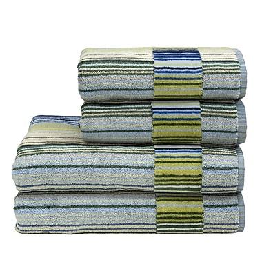 Christy Supreme Capsule Stripe Bath Sheet; Blue