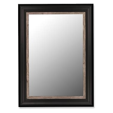 Hitchcock Butterfield Company Mirror w/ Weather Grey Liner in Ebony; 39'' H x 49'' W