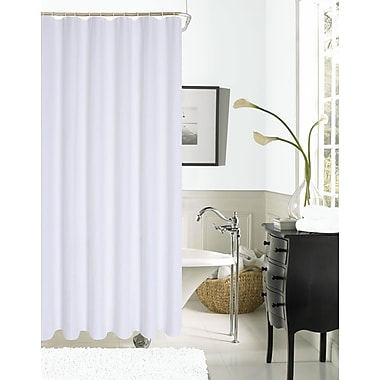 Dainty Home Imperial Hotel Waffle Shower Curtain; White