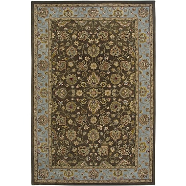 AMER Rugs Innocent Design Brown, Hand-Tufted Rug; Rectangle 5'6'' x 8'6''