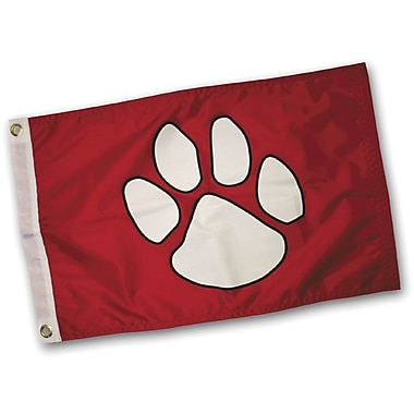 Paws Aboard Paw Print Traditional Flag