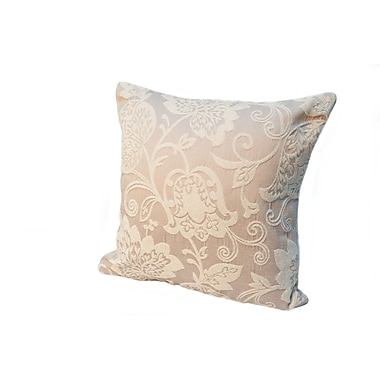 Rennie & Rose Design Group Island Renaissance Pumice Pre-Stuffed Cotton Throw Pillow; 18''