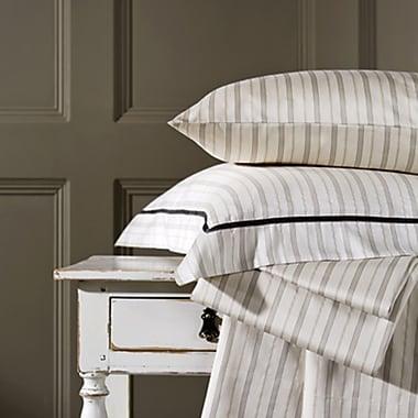 Christy Bloomsbury Cotton Stripe Flat Sheet; King