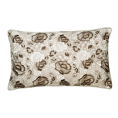 Christy Rosa Silk Lumbar Pillow