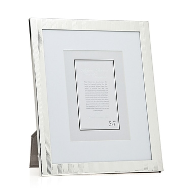 Philip Whitney Herringbone Picture Frame; 8'' x 10'' Without Mat/5'' x 7'' With Mat