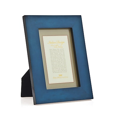 Philip Whitney Marquetry Picture Frame; Blue