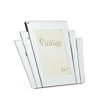 Philip Whitney Vintage Art Deco Mirror Picture Frame; 5'' x 7''