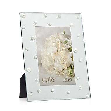 Philip Whitney Pearl Mirror Picture Frame; 5'' x 7''