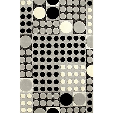 Dynamic Rugs Allure Grey/Black Allurerary Rug; Rectangle 5' x 8'