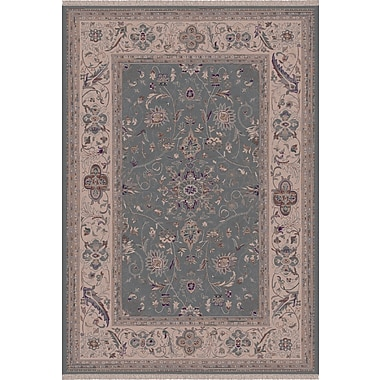 Dynamic Rugs Satin Walker Blue Rug; Oval 5'3'' x 7'7''