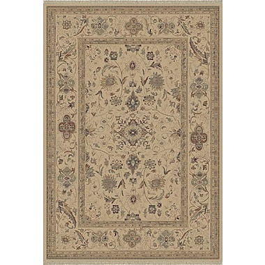 Dynamic Rugs Satin Walker Cream Rug; Round 5'3''