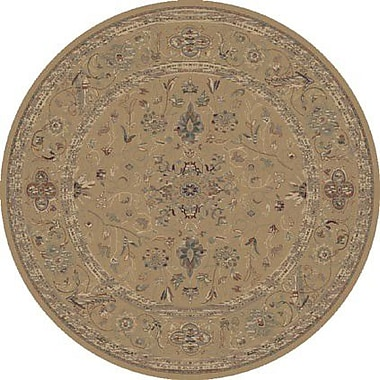 Dynamic Rugs Satin Walker Champagne Rug; Round 5'3''