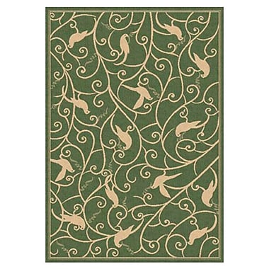 Dynamic Rugs Piazza Hillcrest Green Indoor/Outdoor Area Rug; Rectangle 3'11'' x 5'7''