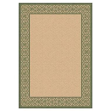 Dynamic Rugs Piazza Talcot Natural/Green Indoor/Outdoor Area Rug; 5'3'' x 7'7''