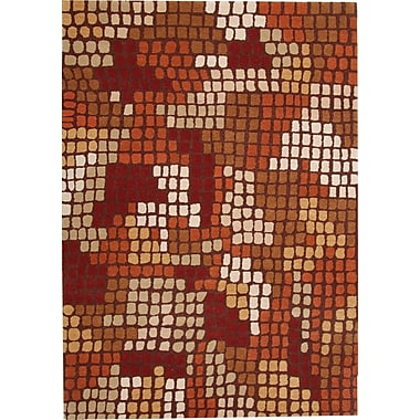 Dynamic Rugs Odyssey Red Rug; Rectangle 6'7'' x 9'6''